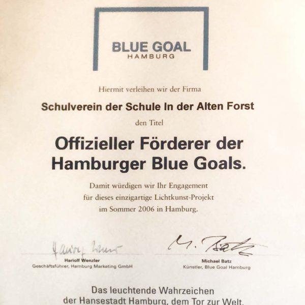 Auszeichnung Blue Goals